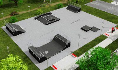 площадка для скейтеров - фото