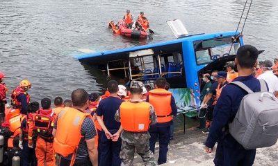 На юго-западе Китая автобус со школьниками упал в водохранилище - Фото