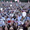 В Минске на митинг Тихановской пришло около 34 тыс. человек - Фото