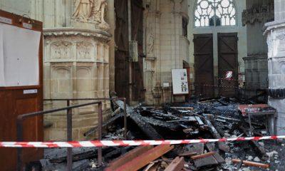 Задержан подозреваемый в поджоге собора во французском Нанте - Фото