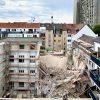 В центре Дюссельдорфа рухнула часть здания - Фото