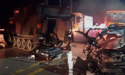 Четыре человека погибли в ДТП с броневиком войск США в Южной Корее - Фото