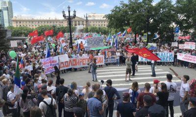 Жители Хабаровска снова вышли на митинг в поддержку Фургала - Фото