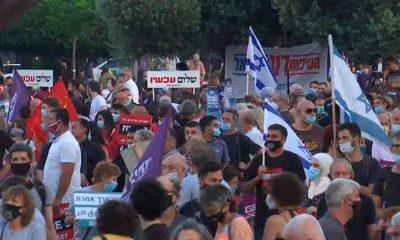В Израиле не утихают протесты: люди требуют отставки Нетаньяху - Фото