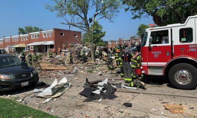 В результате взрыва газа в Балтиморе пострадали шесть человек - Фото