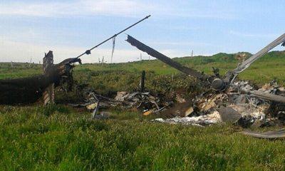 Армения заявила об уничтожении двух азербайджанских вертолётов - Фото