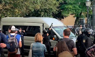В Бресте при разгоне акции протеста милиция стреляла в воздух - Фото