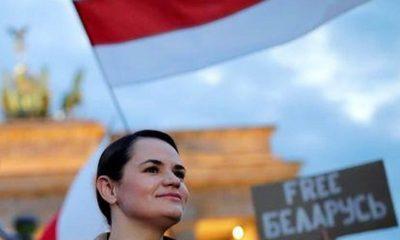 Тихановская прибыла в Берлин и выступила у Бранденбургских ворот - Фото