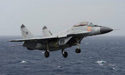 МиГ-29К ВМС Индии потерпел крушение в Аравийском море - Фото
