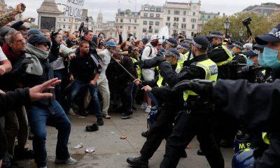 В Лондоне на акции протеста против изоляции задержаны более 150 человек - Фото