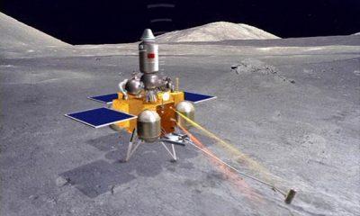 Посадочный модуль китайского аппарата «Чанъэ-5» готовится к посадке на Луну - Фото