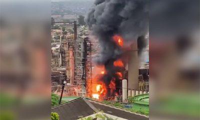 ВЮАРпроизошел мощный взрыв нанефтеперерабатывающем заводе - Фото