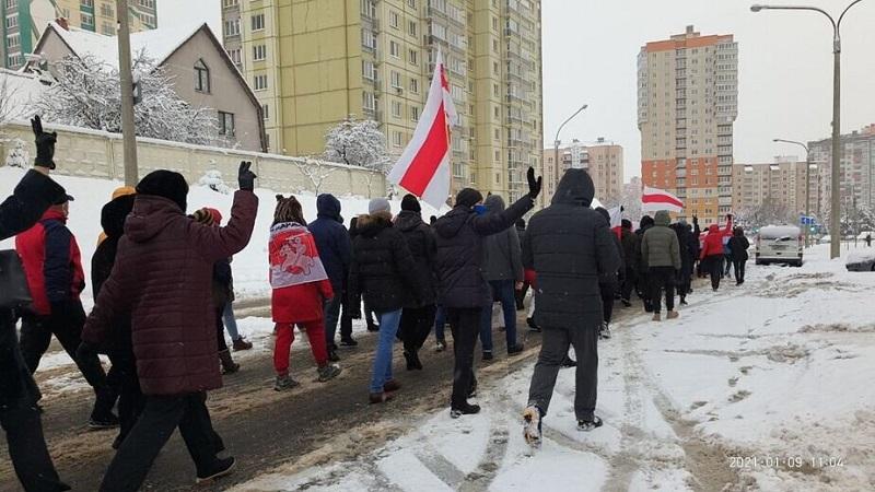 В Минске 10 января на акциях протеста были задержаны 19 человек - Фото
