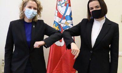 Светлана Тихановская встретилась с министром экономики Литвы и обсудила санкции - Фото