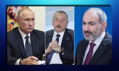 В Москве проходят трехсторонние переговоры Путина, Пашиняна и Алиева - Фото