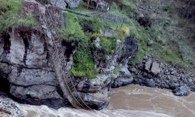 Обрушился мост, построенный инками 600 лет назад - Фото
