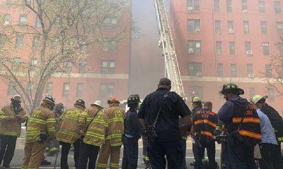 В крупном пожаре в Нью-Йорке пострадали более 20 человек - Фото