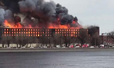 Пожарный погиб при тушении огня в «Невской мануфактуре» в Петербурге - Фото