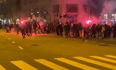 В Швейцарии полиция применила против протестующих резиновые пули и газ - Фото