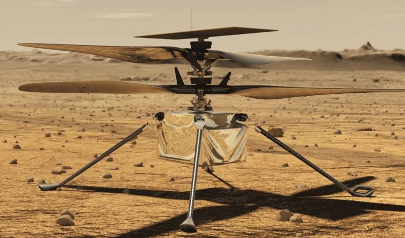 В НАСА рассказали, когда состоится первый полет вертолета на Марсе - Фото