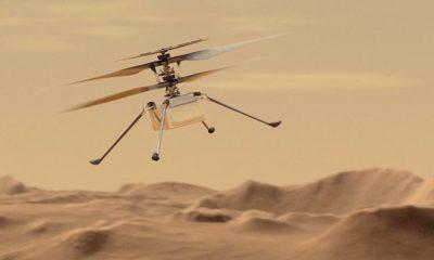 Первый полет вертолета Ingenuity на Марсе