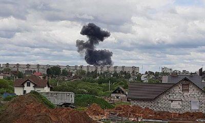 В Беларуси разбился военный самолет