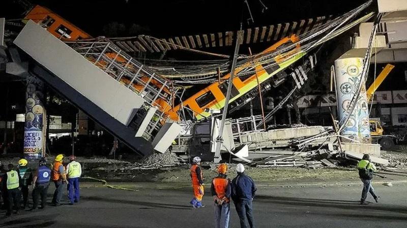 Число жертв крушения моста метро в Мехико увеличилось до 26 человек - Фото