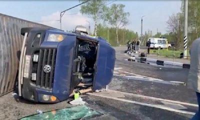 В ДТП под Смоленском пострадали 16 граждан Беларуси - Фото