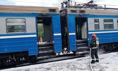 на станции Бояры загорелась электричка