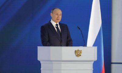 Президент России Путин заявил, что Украина продолжает доставлять технику и войска в Донбасс - Фото
