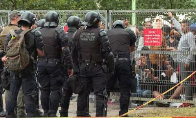 В Литве в пункте временного размещения мигрантов в Руднинкай произошли беспорядки - Фото