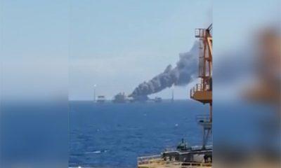 В Мексиканском заливе при пожаре на нефтяной платформе Pemex погибли 5 человек - Фото