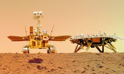 """Китайский марсоход """"Чжужун"""" преодолел 808 метров по поверхности Красной планеты - Фото"""
