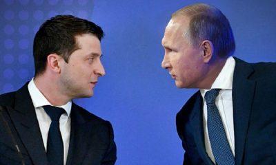 В МИД России сообщили, что встреча Владимира Путина и Владимира Зеленского пока не планируется - Фото